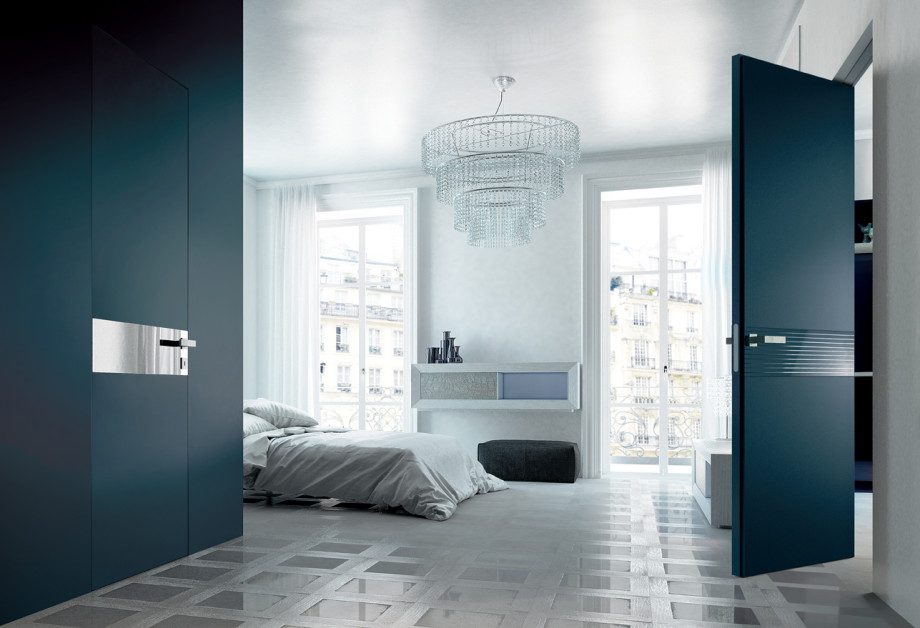 Porte scorrevoli in vetro per interni collezione adela - Porte a specchio per interni ...